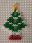 The holes in a 3d christmas tree