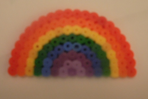 Make a rainbow out of Hama Beads