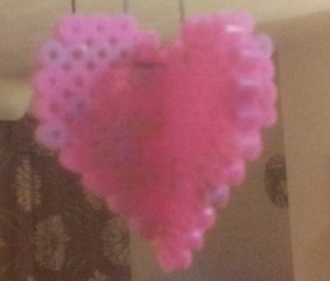 Make a 3D heart out of Hama Beads