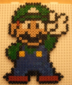 Super Cool Luigi Pattern in Hama