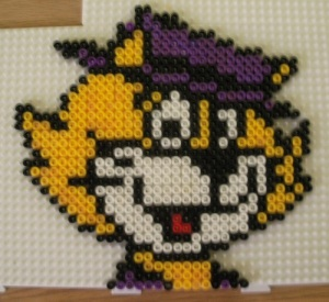Hama Bead Top Cat