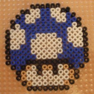 Make a Mini Mushroom from Mario in Hama