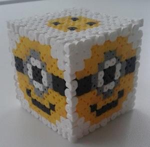 minion hama bead cube